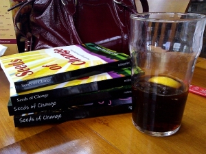 Books and Diet Coke