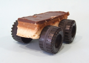 Millionaire shortbread on wheels. Yes really. It looks a bit like a car doesn't it ?