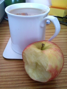 Tea and apple