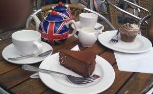 Patriotic afternoon tea