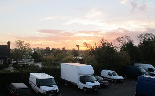 Sunrise over Peterborough