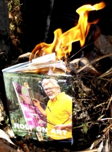 Burning a book