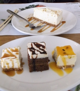 Cheesecake selection