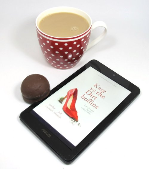 A nice cup of tea, chocolate teacake and an excellent read.