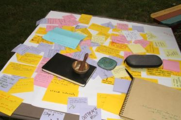 Image result for post it notes on a table